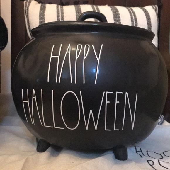 Rae Dunn HAPPY HALLOWEEN Cauldron Canister